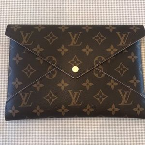 Louis Vuitton large Kirogami snap pouch.